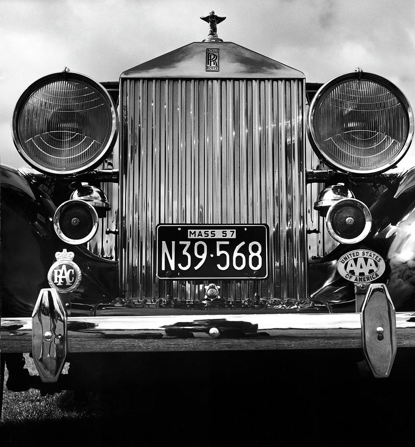 Front Grill Of A Vintage Rolls-royce by Walker Evans