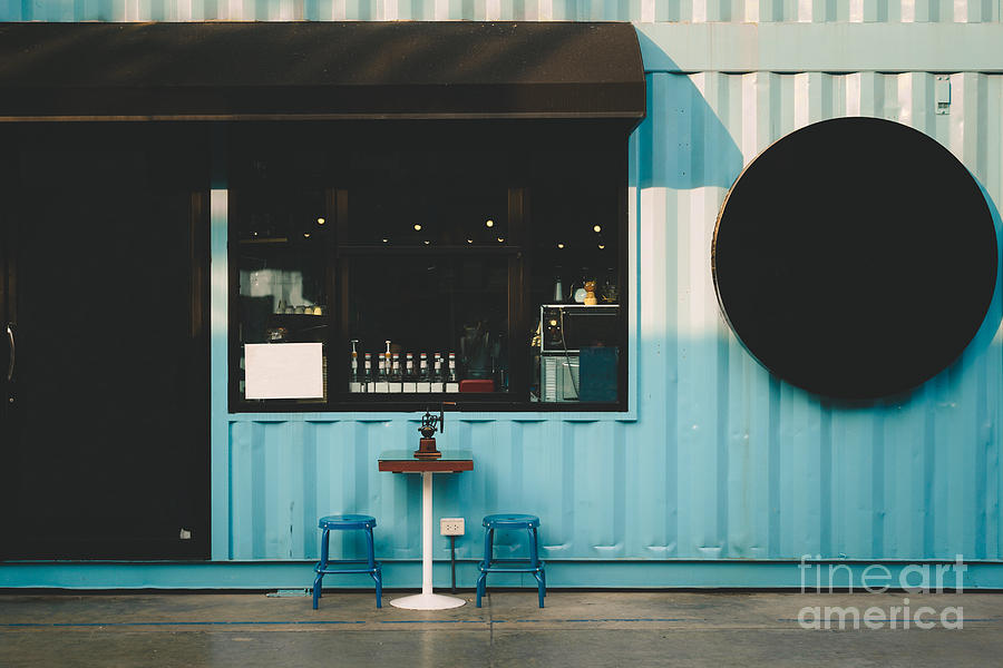 Love Photograph - Front Of Coffee Shop by Smiley.dog