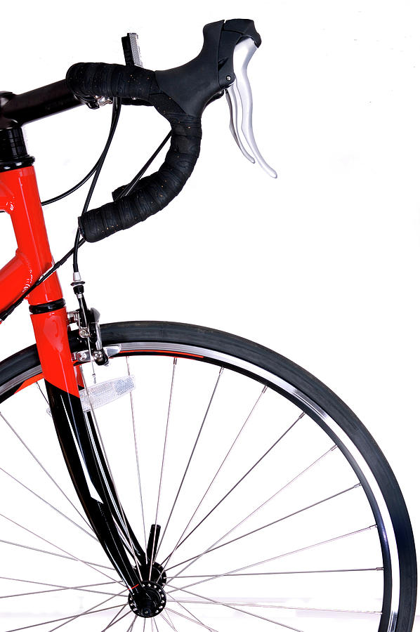 Front Of Red And Black Bike And Front Photograph by Kledge