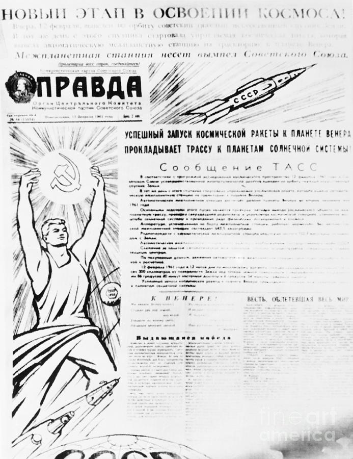 Front Page Of Communist Newspaper Pravda Photograph by Bettmann