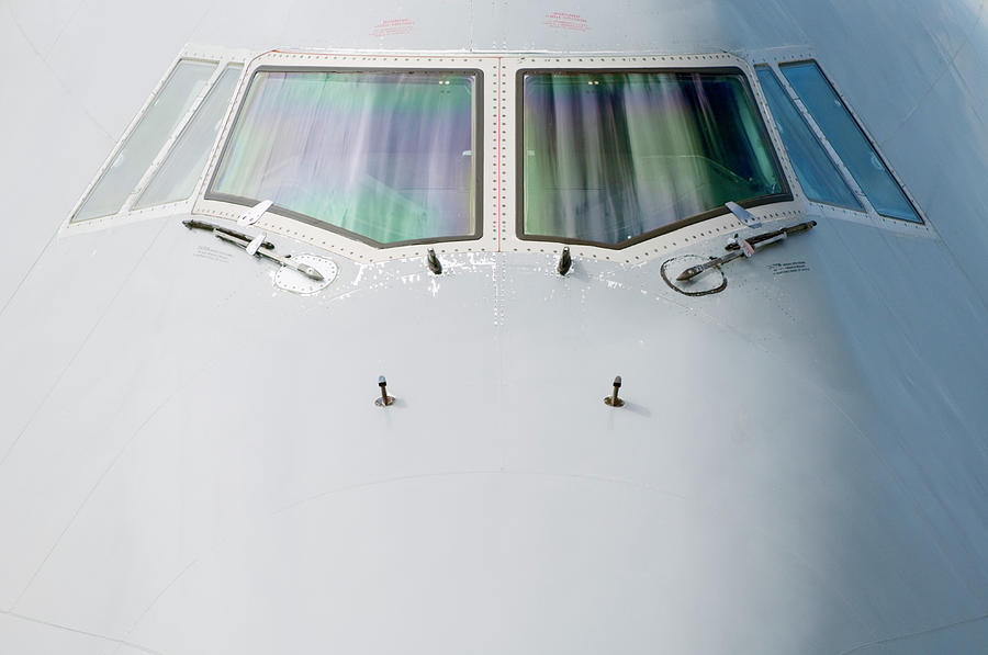 Front Section Of 747 Passenger Plane Photograph by Jason Hosking