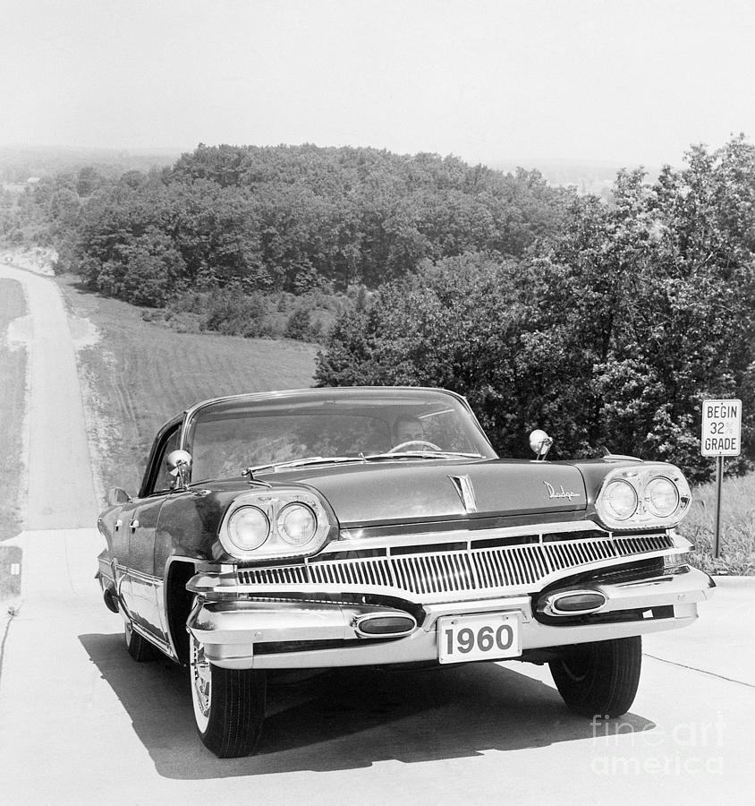 Front View Of 1960 Dodge Dart Photograph by Bettmann