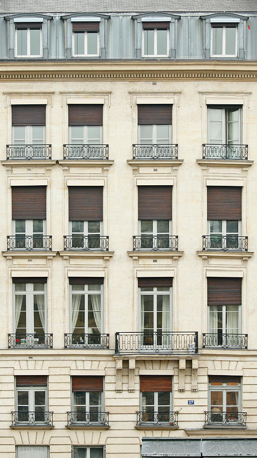 Front View Of Paris Architecture Photograph by S. Greg Panosian