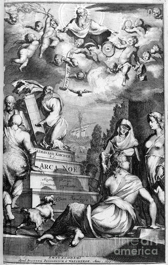 Frontispiece Of Arca Noe, 1675. Artist Drawing by Print Collector