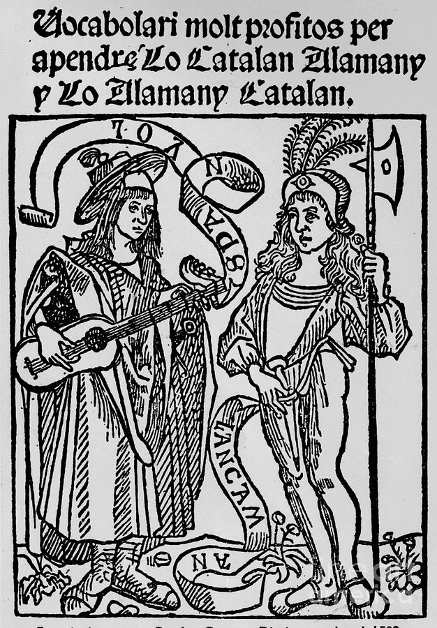 Frontispiece To A Catalan-german Drawing by Print Collector