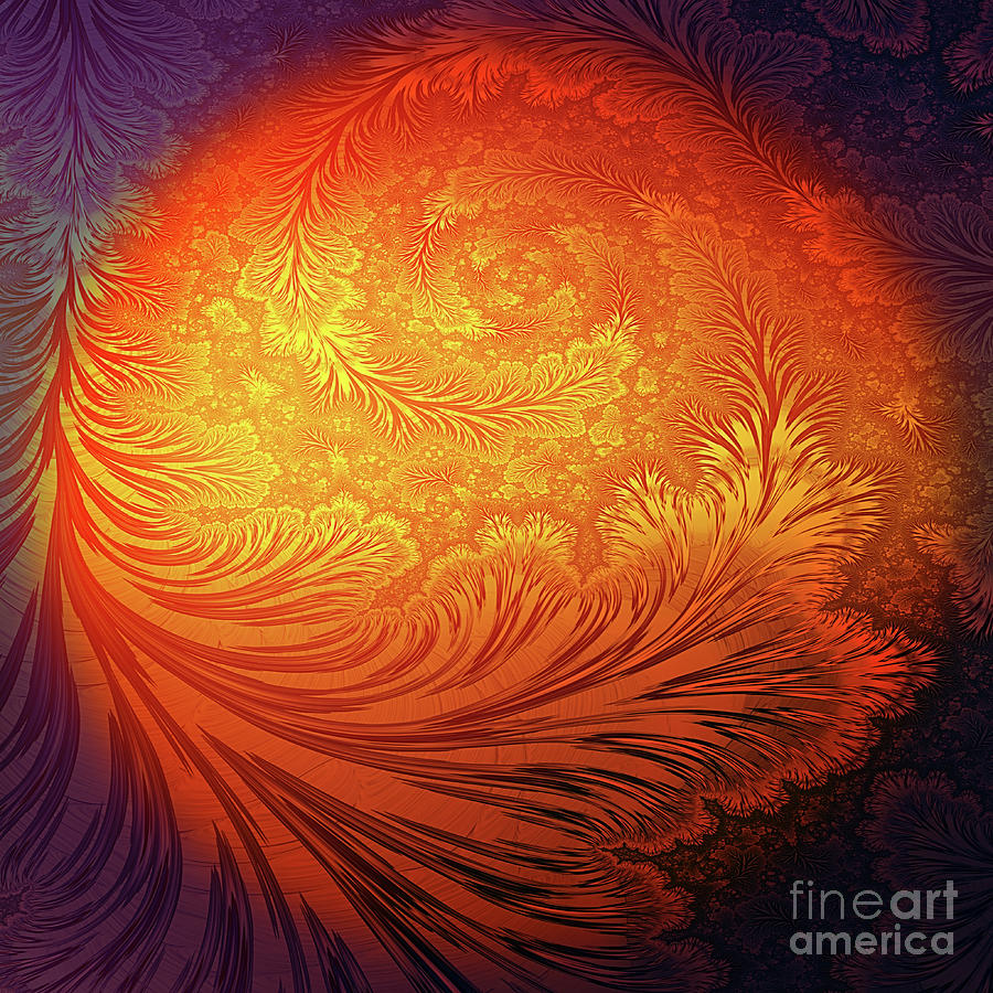 Frost Digital Art - Frost On The Sun by John Edwards