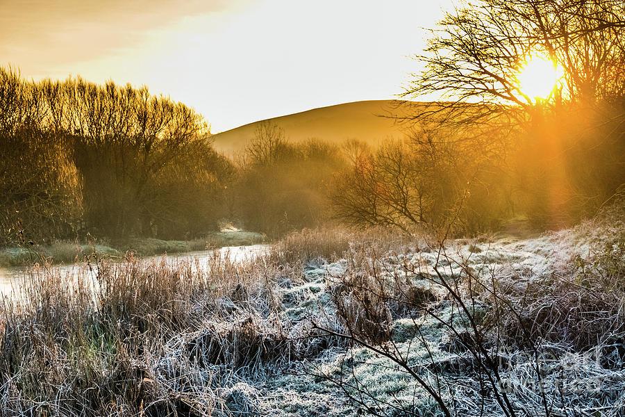 Aberystwyth Photograph - Frosty Dawn On The River Rheidol by Keith Morris