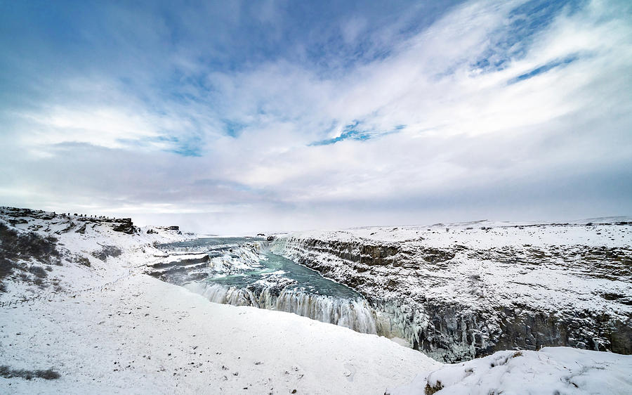 Iceland Photograph - Frosty Gullfoss by Framing Places