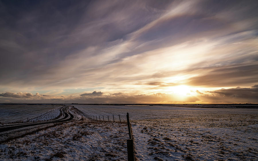 Iceland Photograph - Frosty Iceland Sunset by Framing Places