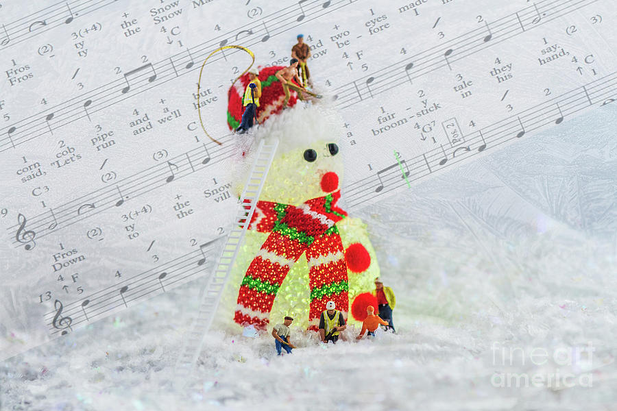 Frosty The Snowman Green Photograph