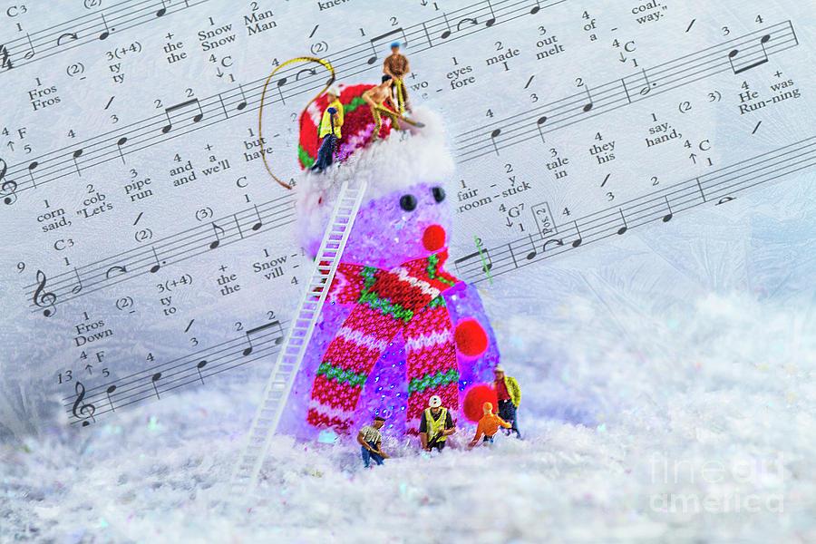 Frosty The Snowman Purple Photograph