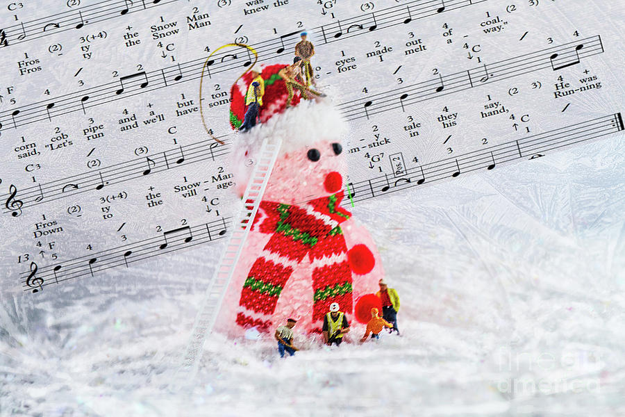 Frosty The Snowman Red Photograph