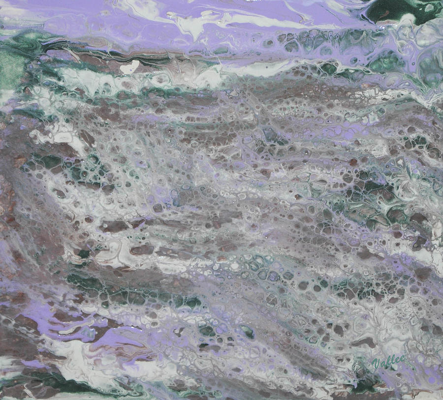 Waves Painting - Frothy Ocean by Vallee Johnson