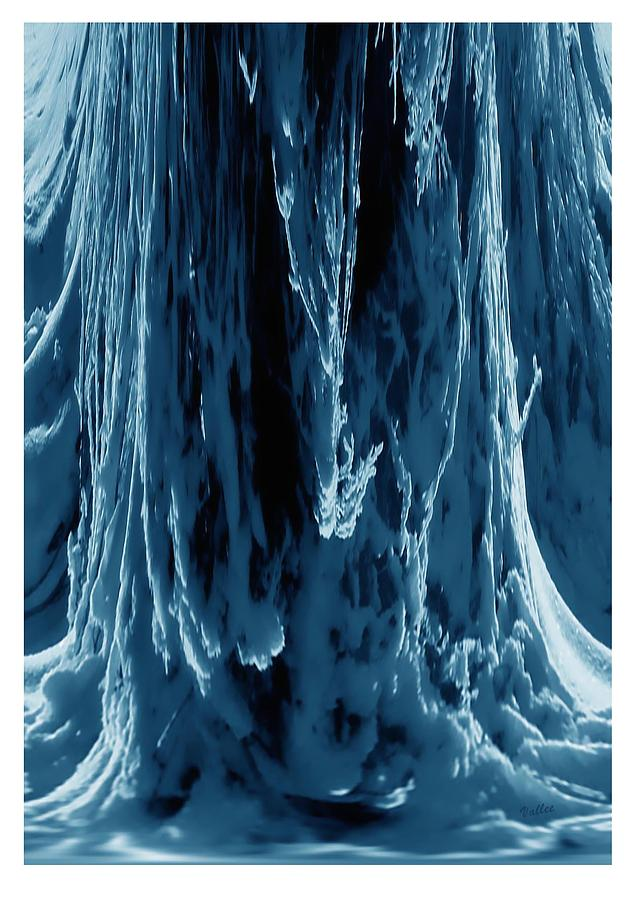 Ice Digital Art - Frozen Falls by Vallee Johnson