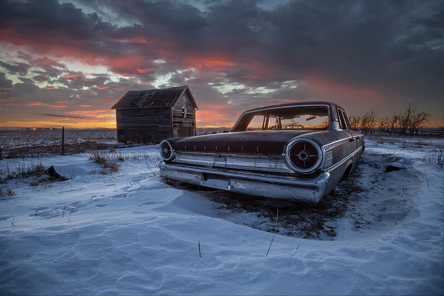 Ford Photograph - Frozen Galaxie 500  by Aaron J Groen