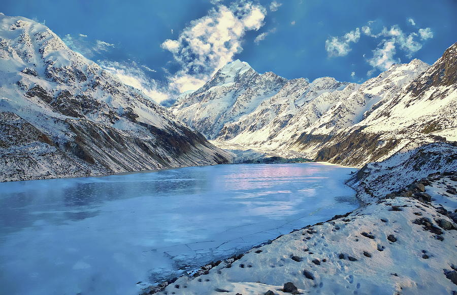 Frozen Hooker Lake by Anthony Dezenzio