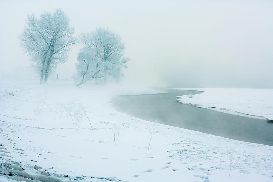 Frozen River Photograph by Samuels Photograph