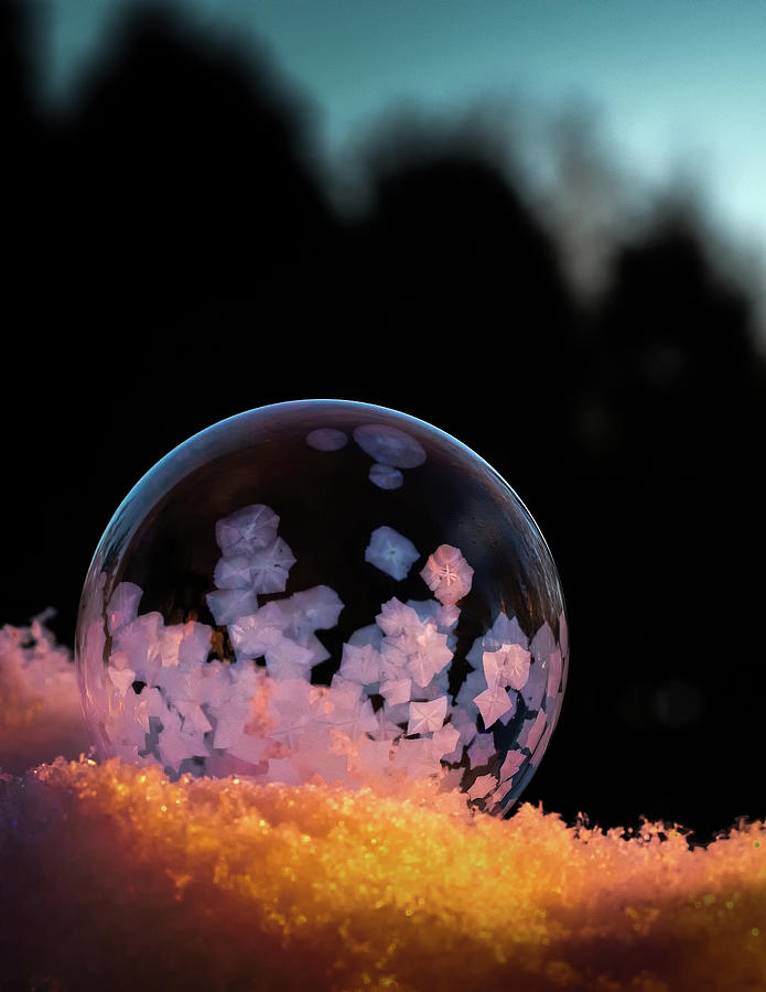 Frozen Soap Bubble by Brian Caldwell