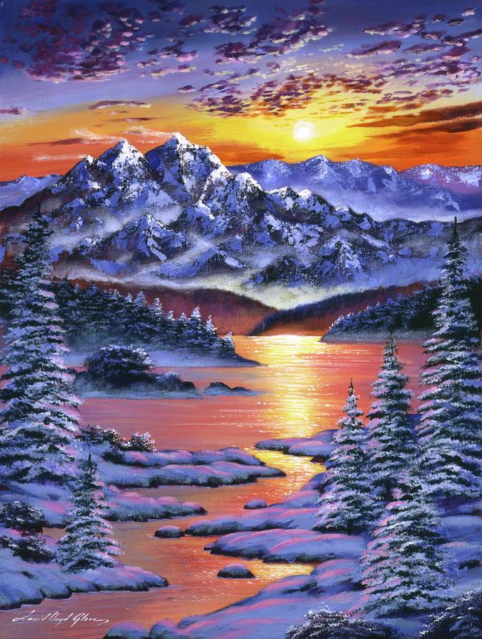 Frozen Sunset Painting