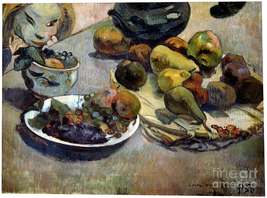 Fruit, 1888. Artist Paul Gauguin Drawing by Heritage Images