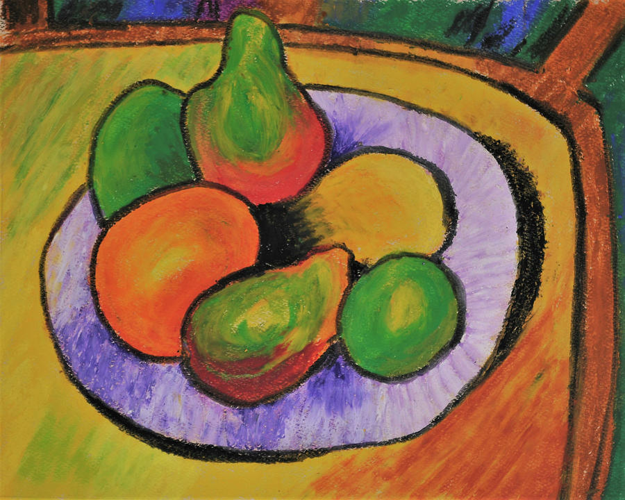 Fruit Bowl after Cezanne by Howard Bagley