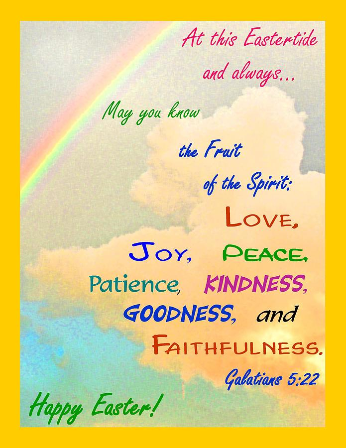 Happy Easter Rainbow Quote Print