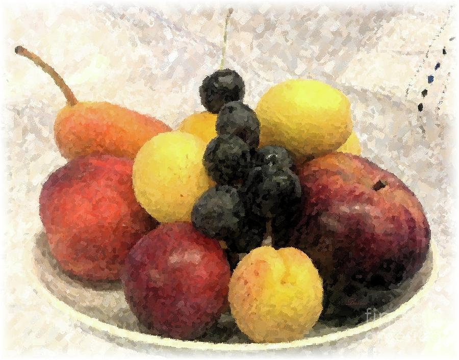 Fruit Still Life by Barbie Corbett-Newmin