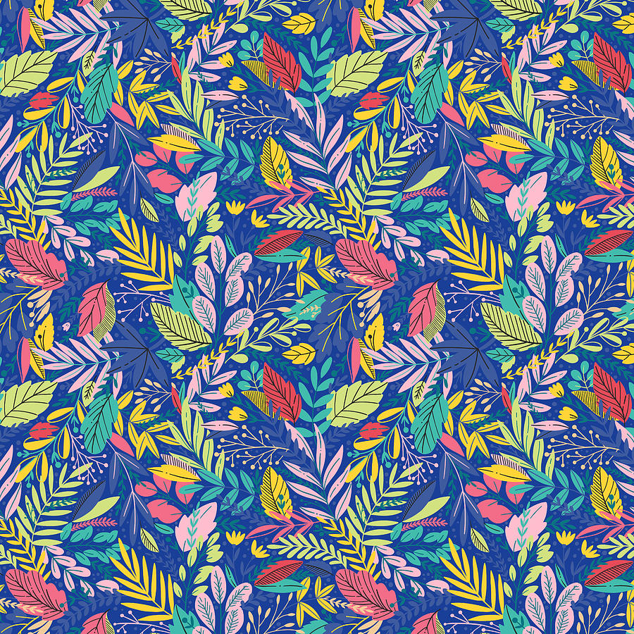 Blueberry Digital Art - Fruit Tea Florals - Blueberry by Amanda Lakey
