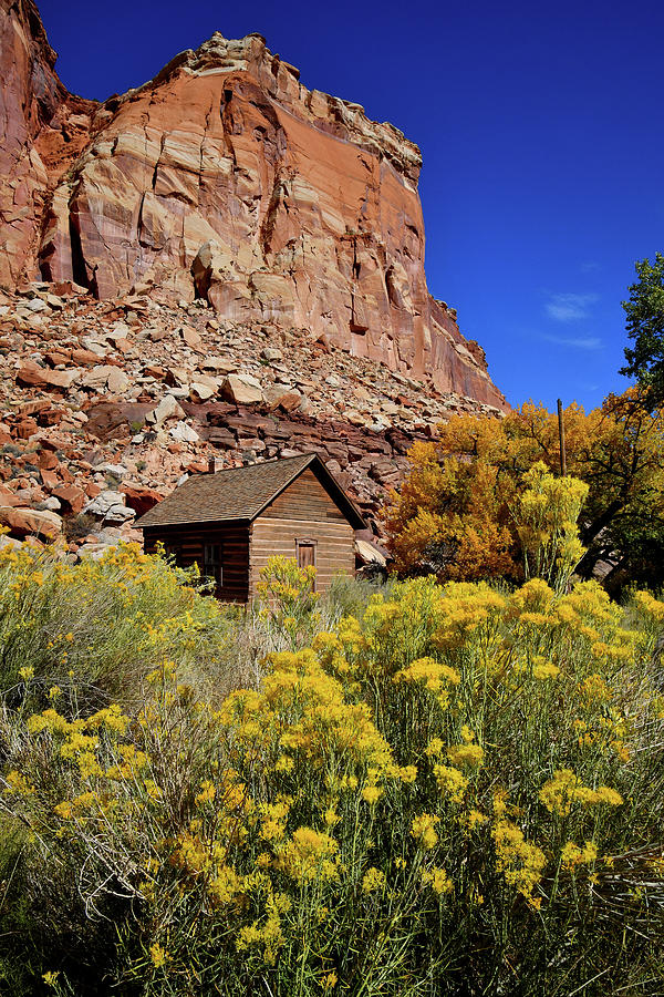 Fruita School in Capitol Reef National Park by Ray Mathis