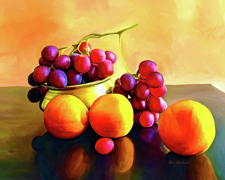 Fruits Mixed Media - Fruits by Ata Alishahi
