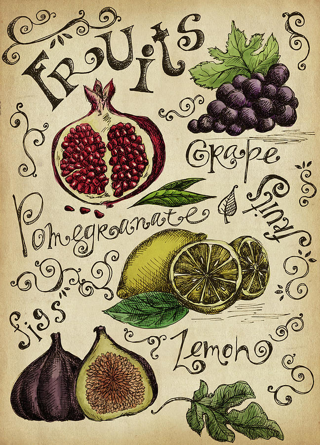 Fruits Digital Art by Kalistratova