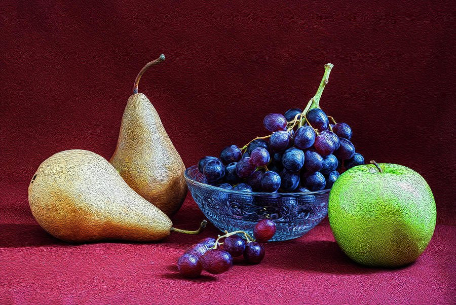 Fruits still life by Vishwanath Bhat