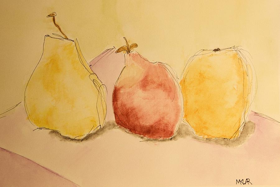 Fruit Painting - Fruity by Marty Klar