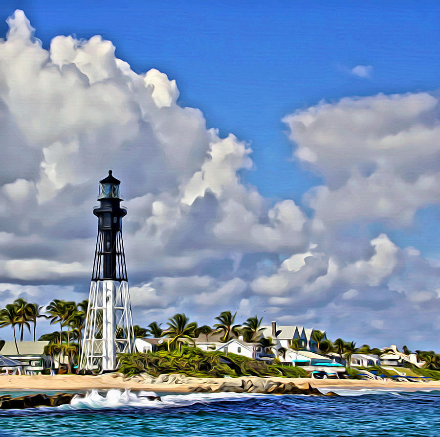 Ft Lauderdale Lighthouse Oceanview by Alice Gipson