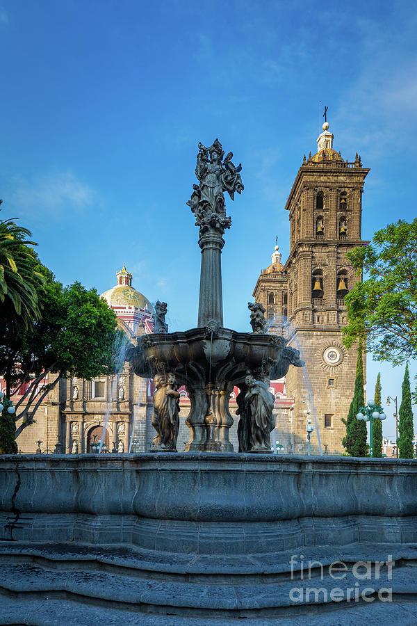 Catholic Photograph - Fuente De Puebla by Inge Johnsson