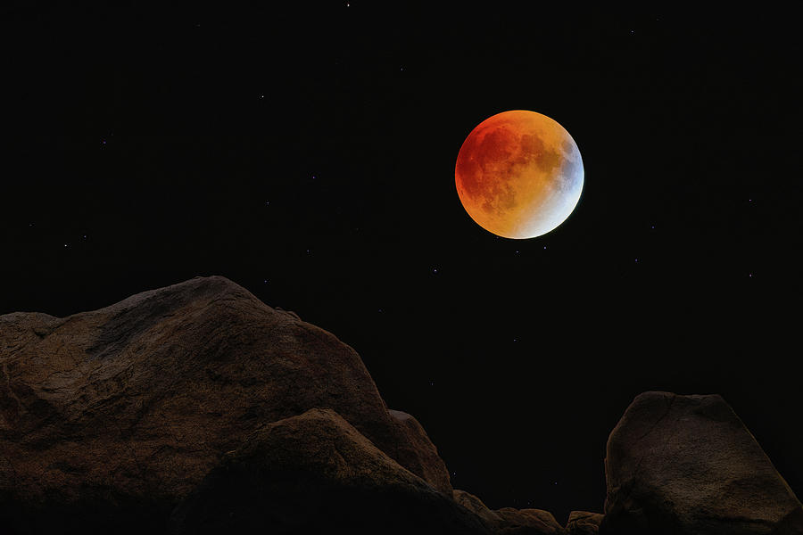 Full Blood Moon, Lunar Eclipse 1 by Michael Hubley