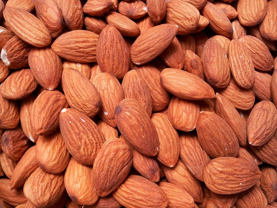 Full Frame Shot Of Almonds Photograph by Frank Schiefelbein / Eyeem