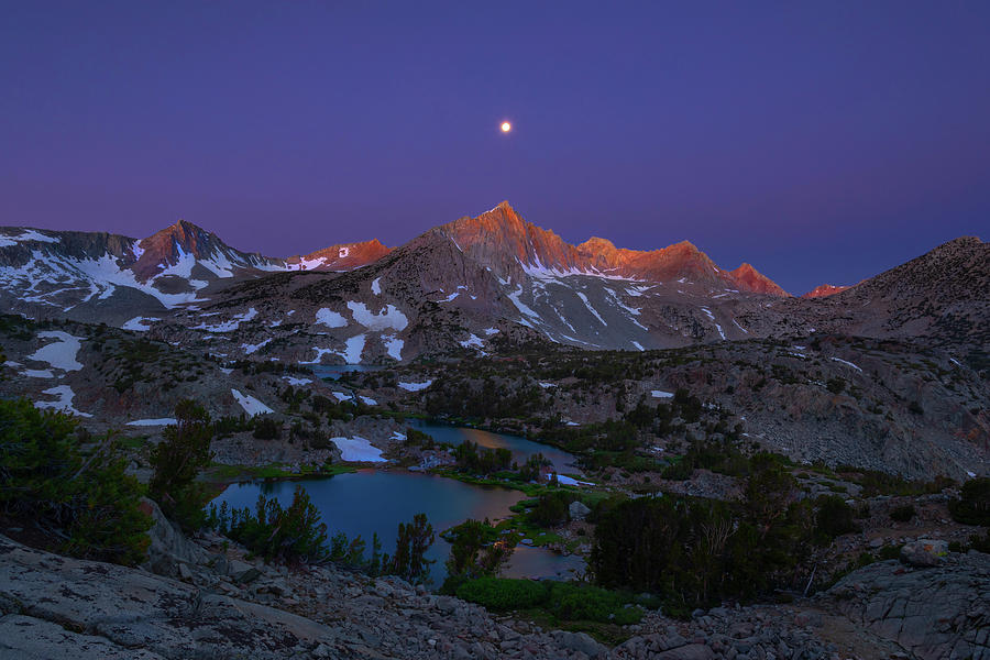 Full Moon Alpenglow Photograph