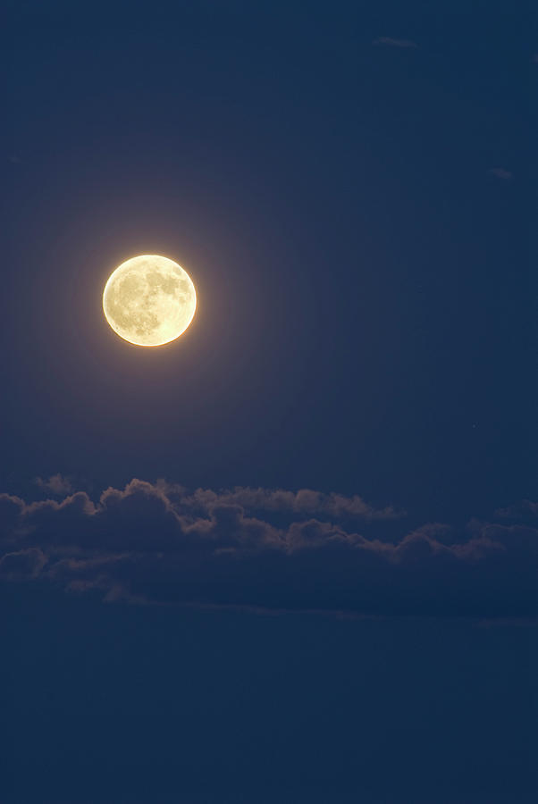 Full Moon And Clouds Photograph by Doug4537