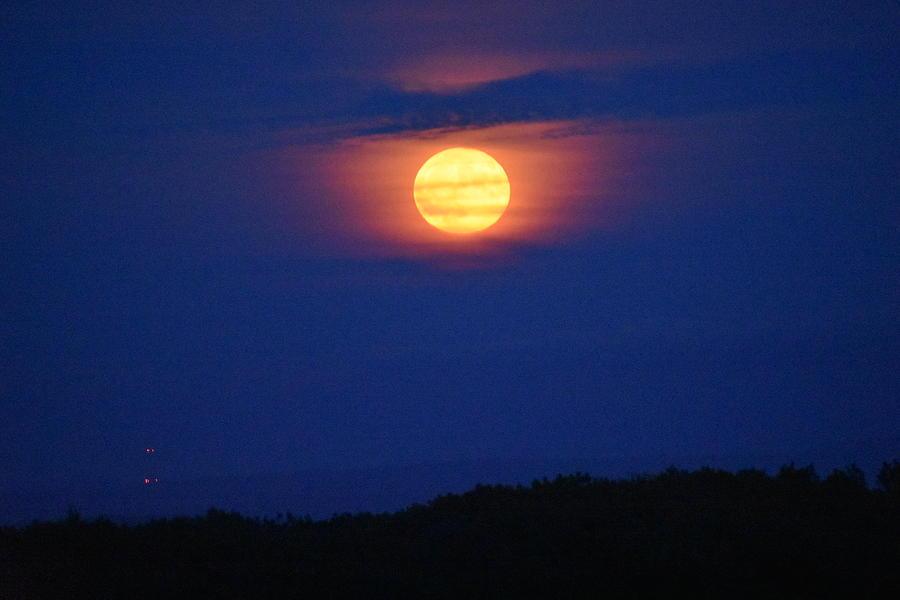 Full Moon on Meriden Mountain 1 by Nina Kindred