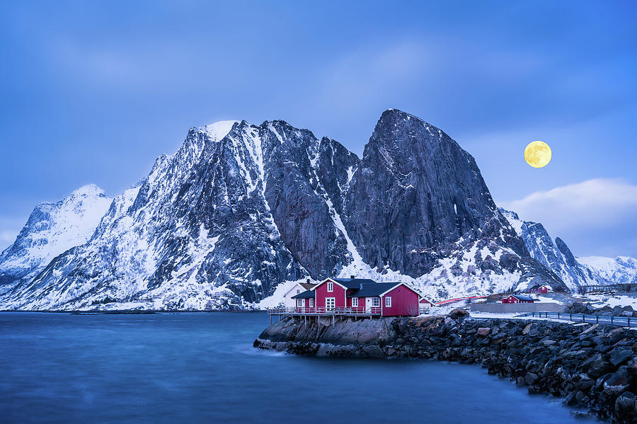 Full Moon over Hamnoy by Michael Blanchette