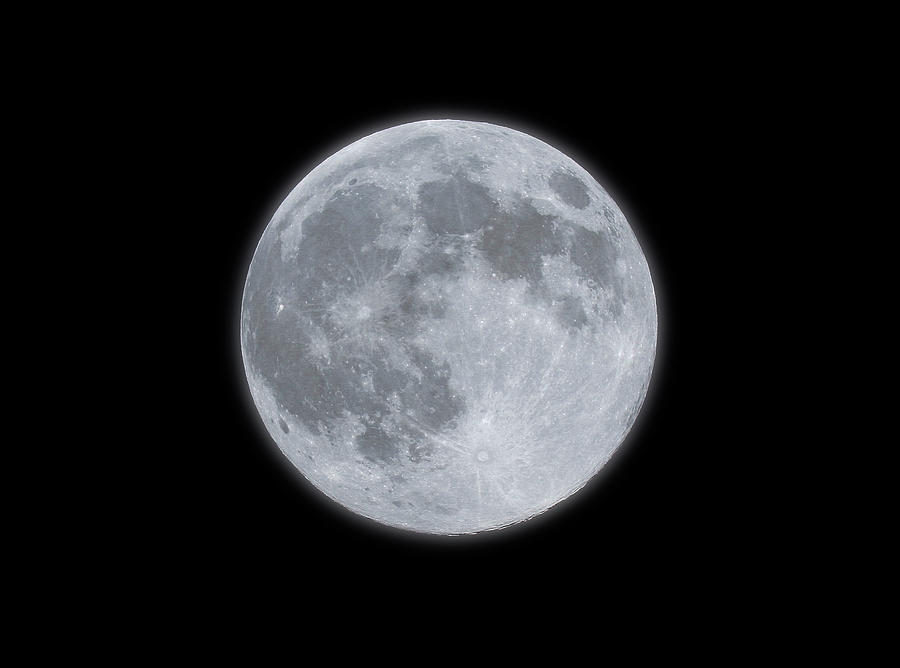 Full Moon With Glow Photograph by Banksphotos