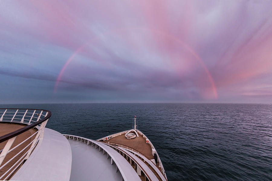Full Rainbow over the Ship by Debra and Dave Vanderlaan