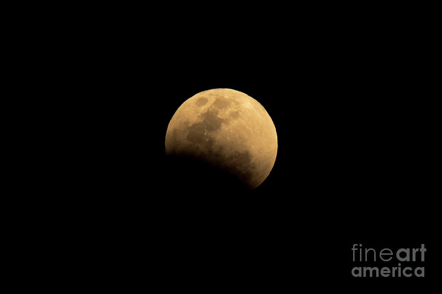 Full Super Moon Eclipse With Black Photograph by Yod67