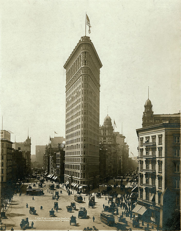 Fuller Flat Iron Building, New York Photograph by The New York Historical Society