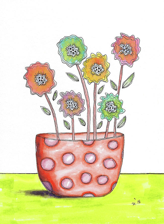 Fun Flowers in a Pot by Susan Campbell