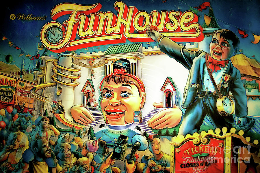 Fun House Pinball Machine Arcade Nostalgia 20181223 by Wingsdomain Art and  Photography