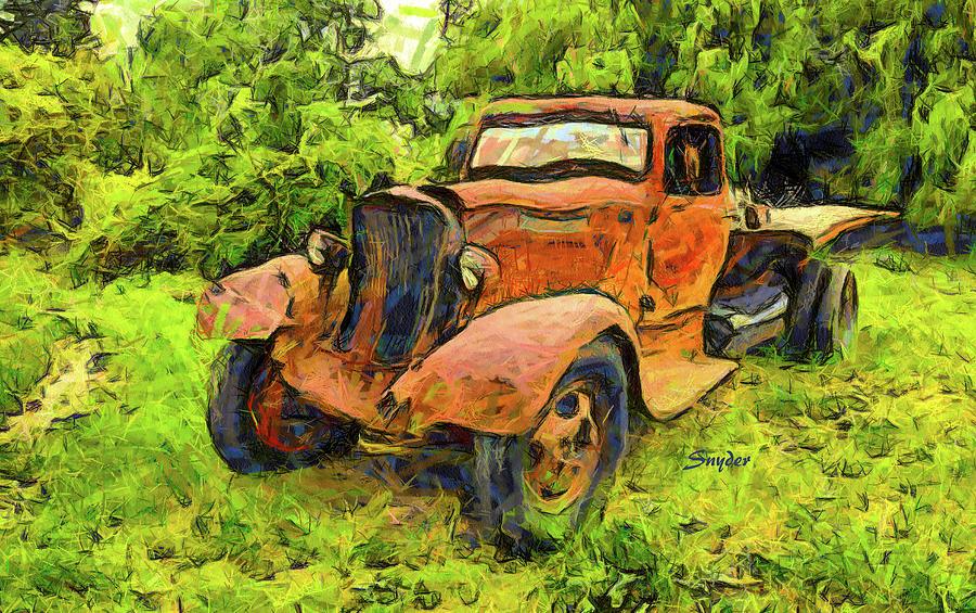 Funky Dodge Flatbed Truck by Floyd Snyder