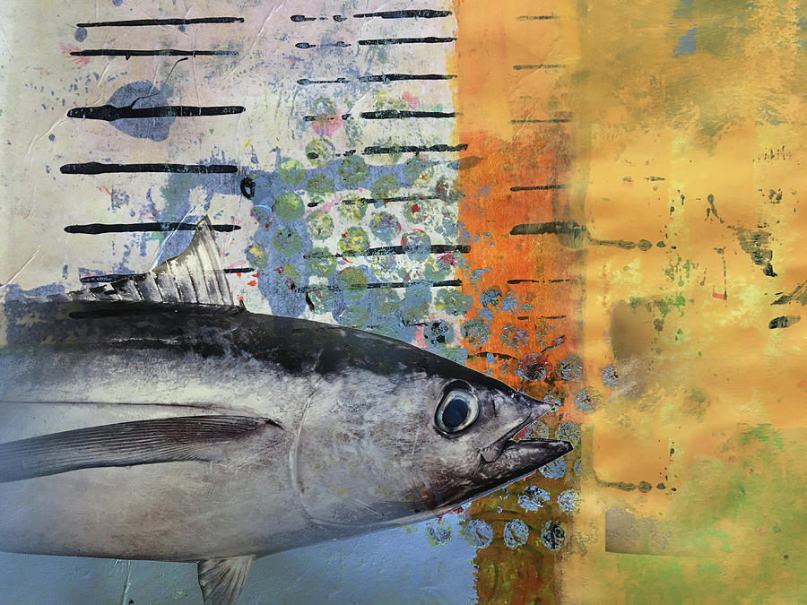 Fish Mixed Media - Funky Fish by Nancy Merkle
