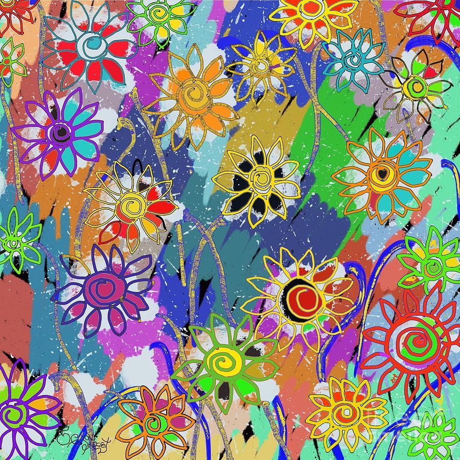 Funky Flowers  by Caroline Street